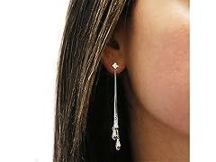 Aurora Borealis Tassel Earrings
