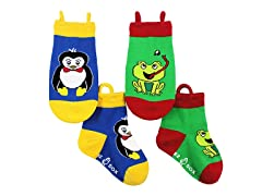 2-Pk Socks - Penguin & Frog