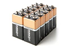 9V Alkaline Batteries - 10 Pack
