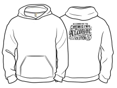 """Alcohol is a Solution"" Pullover Hoodie"