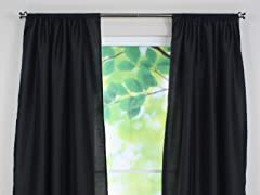 Shantung Night Rod Pocket Panel-3 Sizes