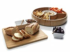 Core Bamboo Chip & Dip - TWO Party Sets