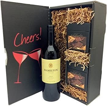 Hamilton Estates Merlot & Harry London Chocolates Gift Set