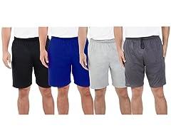FOTL Men's Jersey Shorts Pockets 2 Pack