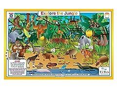 Tot Talk Educational Jungle Placemat