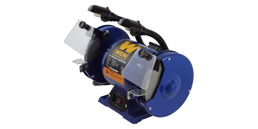 6 Inch Bench Grinder With Dual Lights