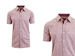 Men's SS Micro Pinstripe Dress Shirts