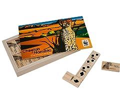 WWF African Cheetah Wood Dominoes