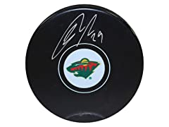 Jason Pominville Wild Signed Puck