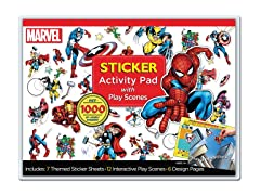 Marvel Heroes Sticker Activity Pad with Play Scene