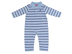 Boys Light Blue Polo Coverall (3-6M)