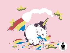 Fat Unicorn Remix Pullover Hoodie - Pink