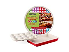 Casaware  Toaster Oven 3pc Set Red