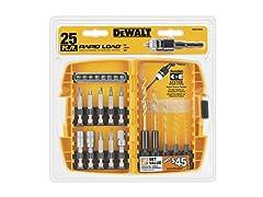 DEWALT DWA13RD25 Dewalt 25 pc. Drill/ DrivingScrewdriv