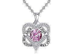 Interlock Heart I Love You Necklace