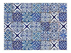 Home Decor Line Blue Azulejos Kitchen Panel Decal