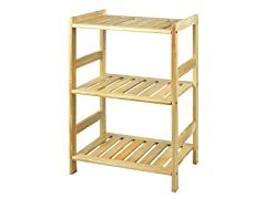 Pine Solid Wood 3 Tier Shelf
