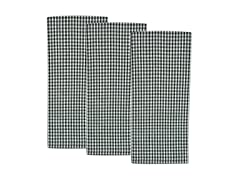 Nantucket Check Dishtowel Set-Black