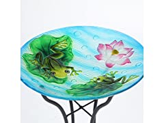Winsome House Glass Frog Bird Bath