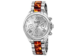 Burgi Women's Swiss Quartz Diamond Multifunction Watch