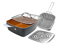 "4-Piece Non-stick 11"" XL Deep Square Pan"