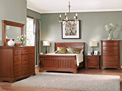 Greenbriar Sleigh 5-pc Bedroom Set (3 Sizes)
