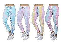 2PK ASST Tie-Dye Lounge Jogger Pants