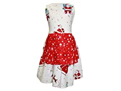 Jessica Pleated Apron- Ho Ho Ho