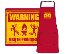 """Warning: BBQ in Progress"" Apron"