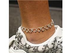 Sterling Silver Designer Anklet