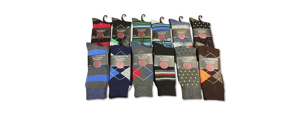 Men's Dress Socks: 12, 24, and 30 Packs