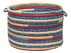 Fabric Multi Storage Basket - Denim (2 Sizes)