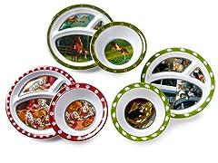 6-Piece Plate/Bowl Set - Animals