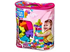 Mega Bloks Big Building Bag, 80 Piece