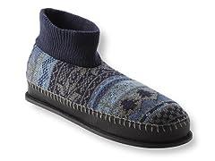 Muk Luks Cullen Retro Nordic Ankle Slipper, Blue