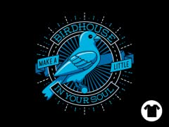 Blue Canary Birdhouse