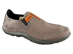 Men's Slipper - Grey/Orange Pinstripe