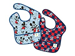 Mickey Check SuperBib 2-Pk