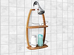 Over the Head 2 Tier Bamboo Shower Caddy