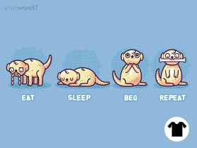 Eat Sleep Beg Repeat