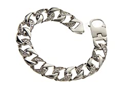 BlackJack Stainless Steel Cuban Link Bracelet