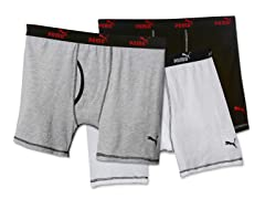 White/Grey/Black Boxer Brief 3-Pack