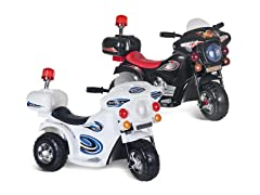 Lil' Rider Motorcycle Ride-on: White