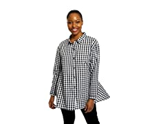 DUBGEE By Whoopi Novelty Button Front Shirt