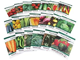 Mixed Veggie, Herb, & Flower Seeds Bundle (30+)