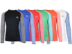 Men's LS Wicking 2Tone Raglan Tee 6-Pack