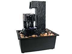 Sunnydaze 6-Inch Tiered Small Tabletop Water Fountain