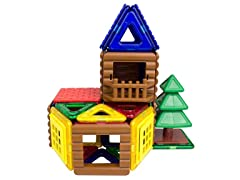 Magformers 48-Piece Log Cabin Set