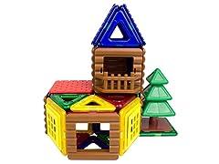 Magformers 48-Piece Log Cabin Set