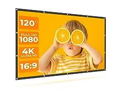 VANKYO Portable 120 Inch Projection Screen, 16:9